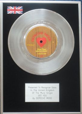 "Depeche Mode - 7"" Platinum Disc - See You"